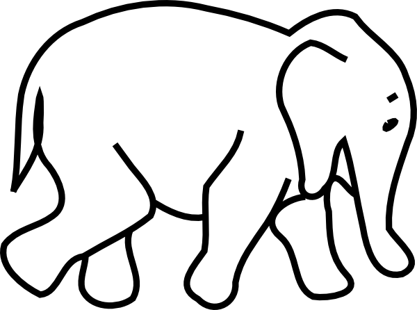 Baby Elephant Clipart Black And White | Clipart Panda - Free ...