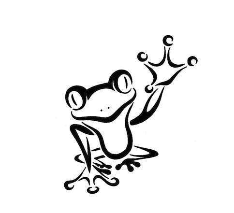 A Cute Frog Tattoo Stencil | Tattoobite.com