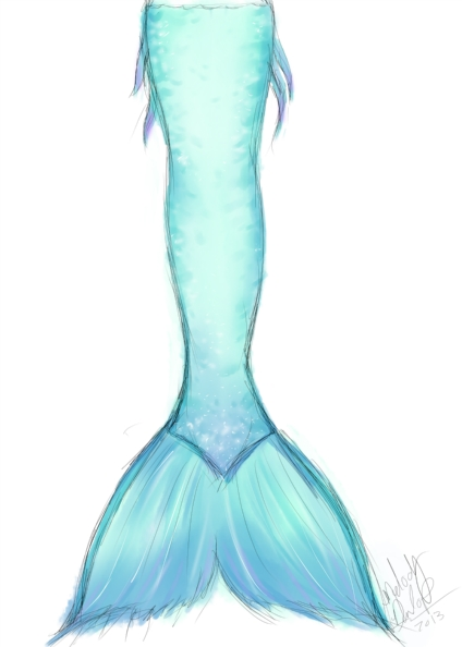 How To Draw Mermaid Tails Cliparts Co