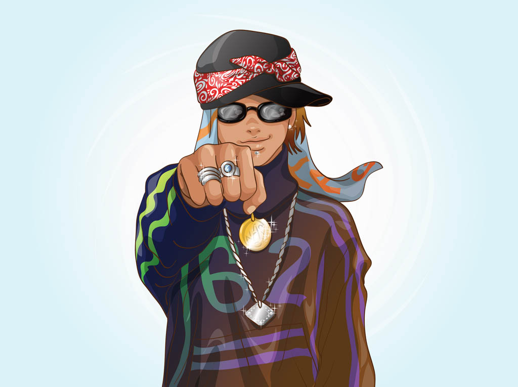 Cartoon Characters As Rappers : Hip hop cartoon characters cliparts