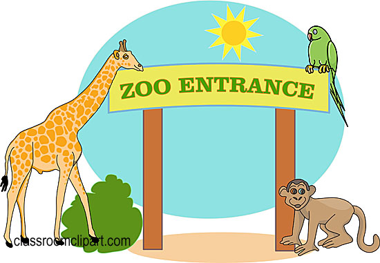 At The Zoo Clipart Zoo Images Clip Art