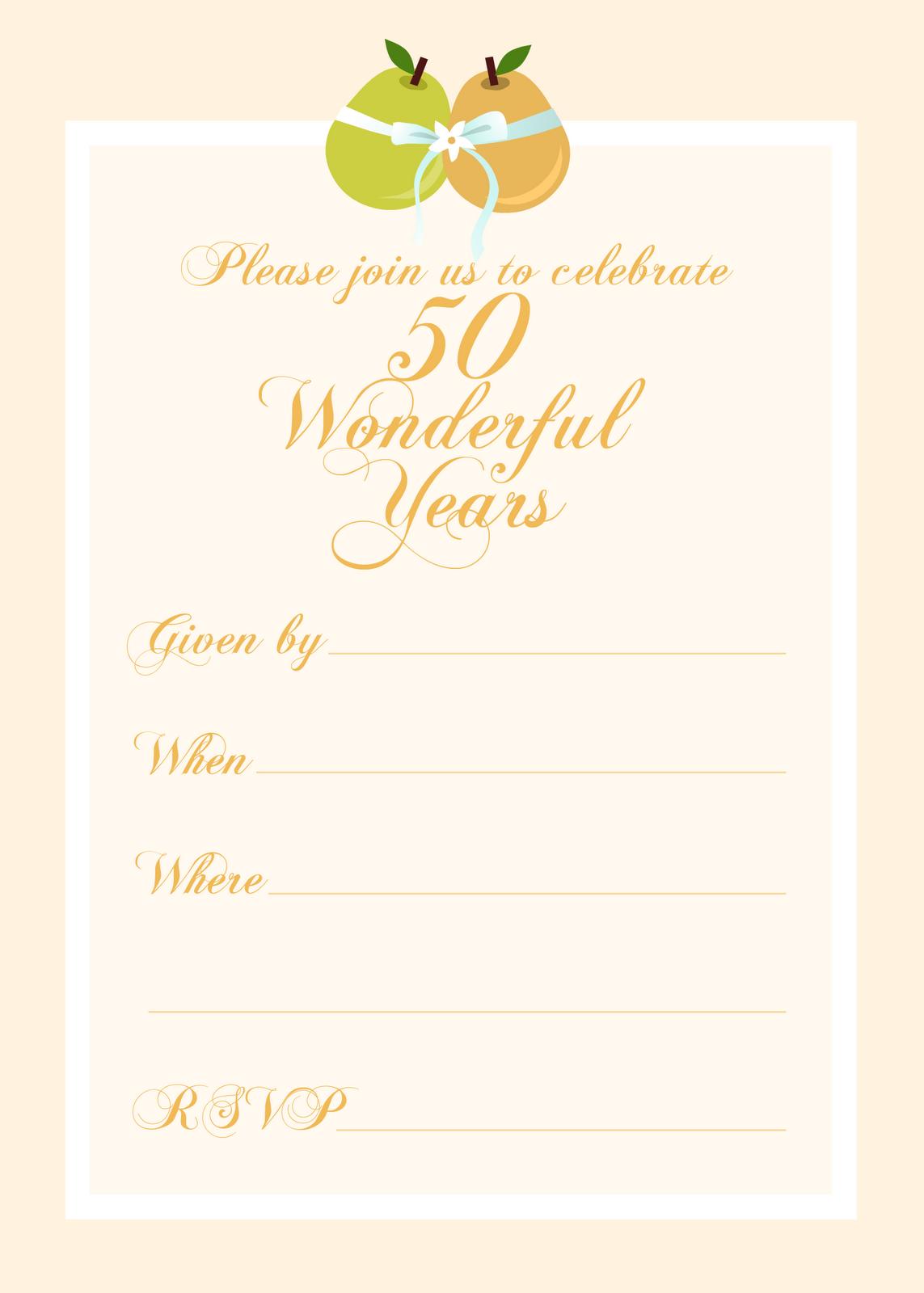 Free 50th Anniversary Clip Art - Cliparts.co