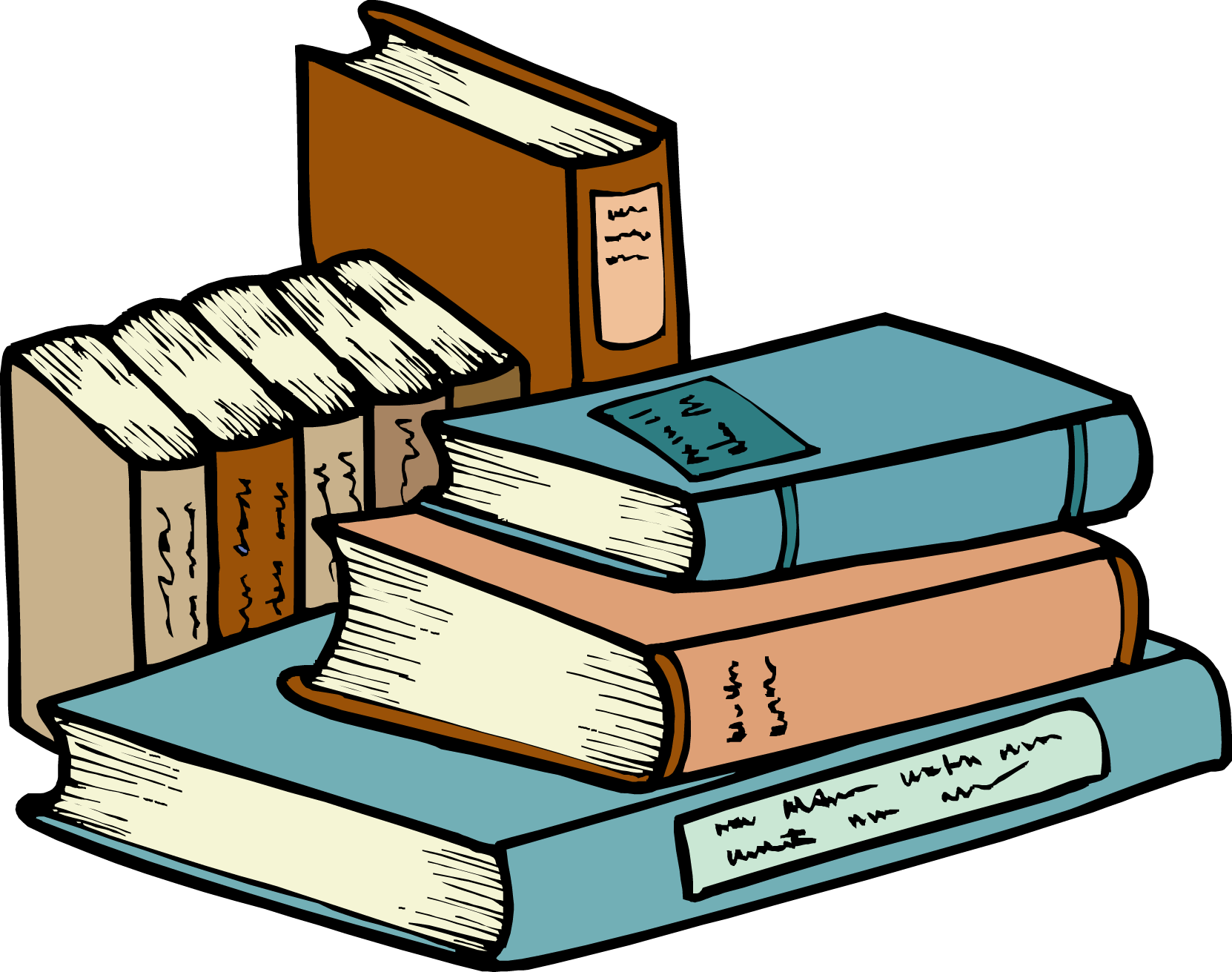 Library Books Clip Art | Clipart Panda - Free Clipart Images