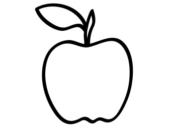 Apple Clipart Black And White | Clipart Panda - Free Clipart Images