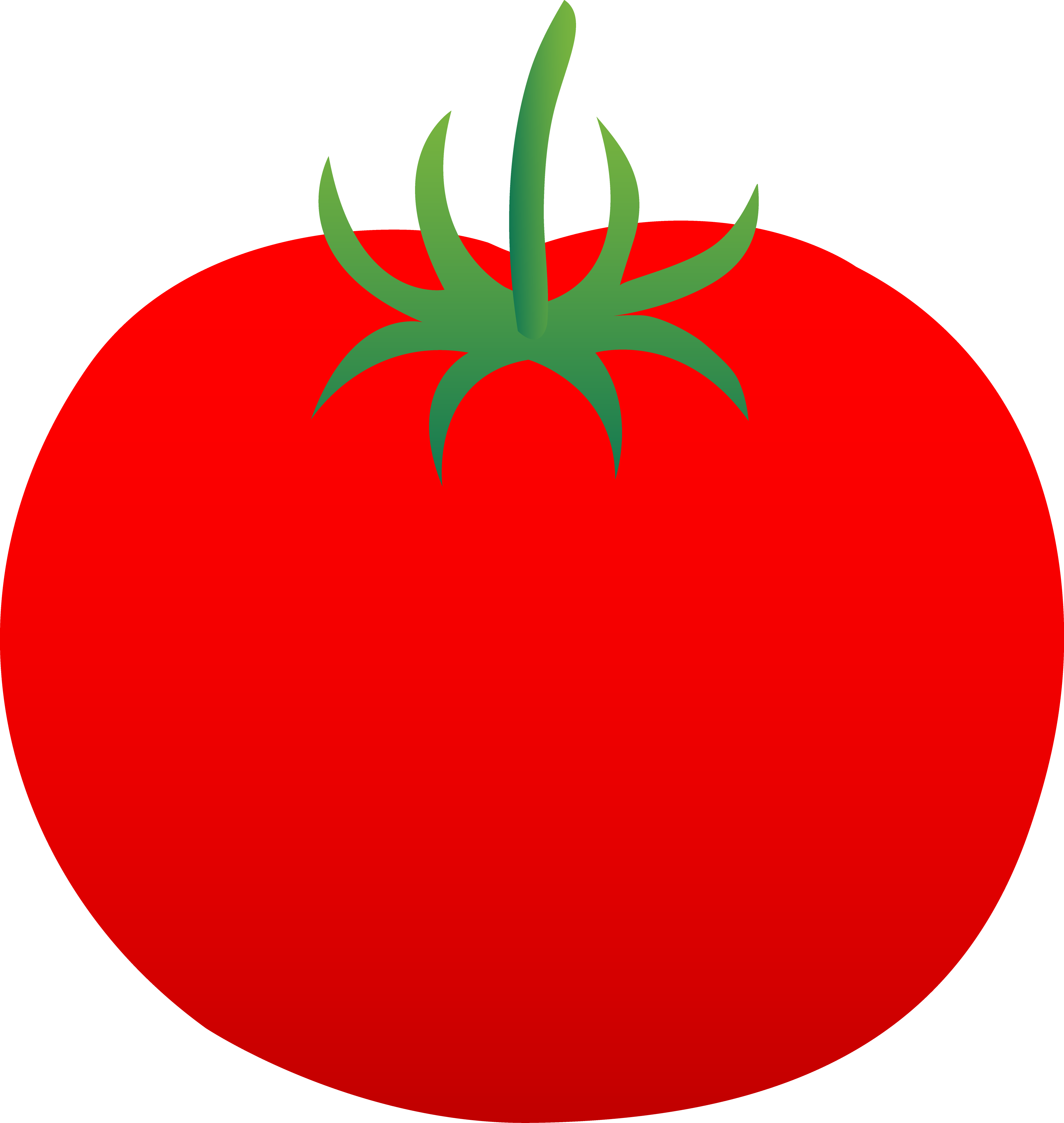 Whole Ripe Red Tomato - Free Clip Art