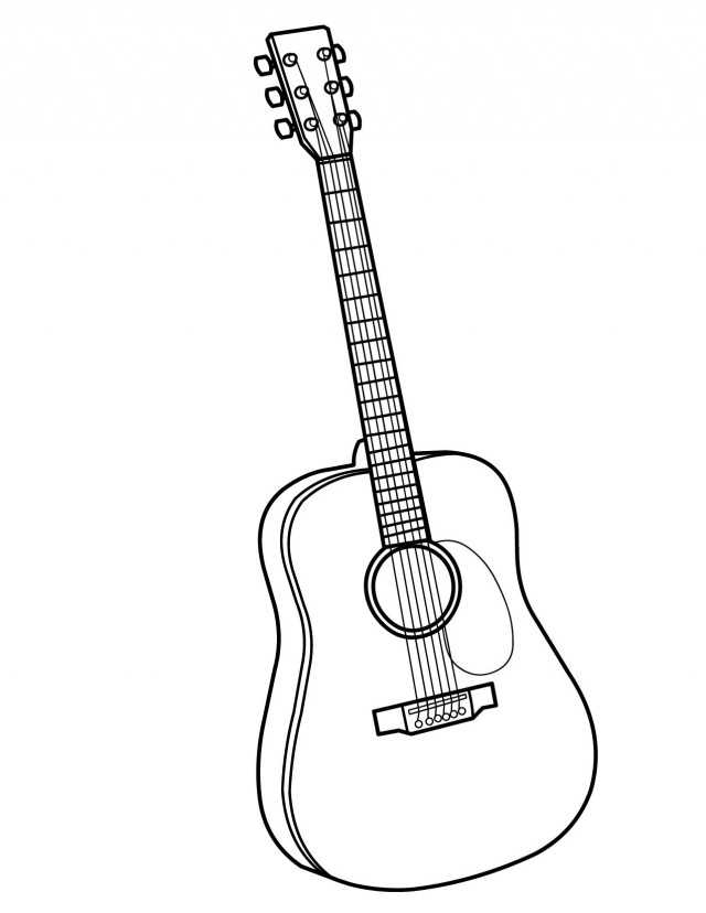 Coloring pages with guitars ~ Cartoon Guitar Images - Cliparts.co