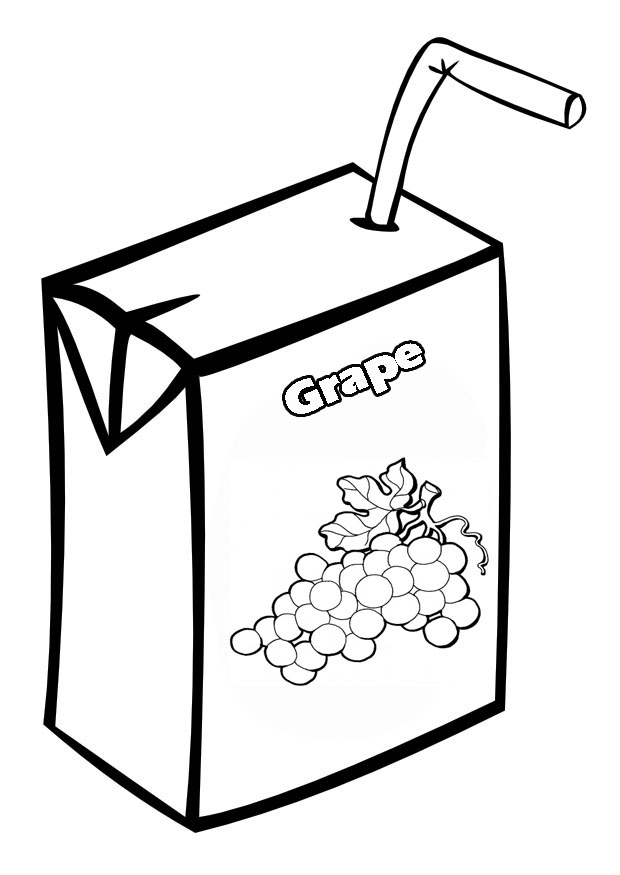 Apple Cider Coloring Pages : Cartoon juice box cliparts