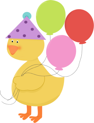 Birthday Party Duck Clip Art - Birthday Party Duck Image