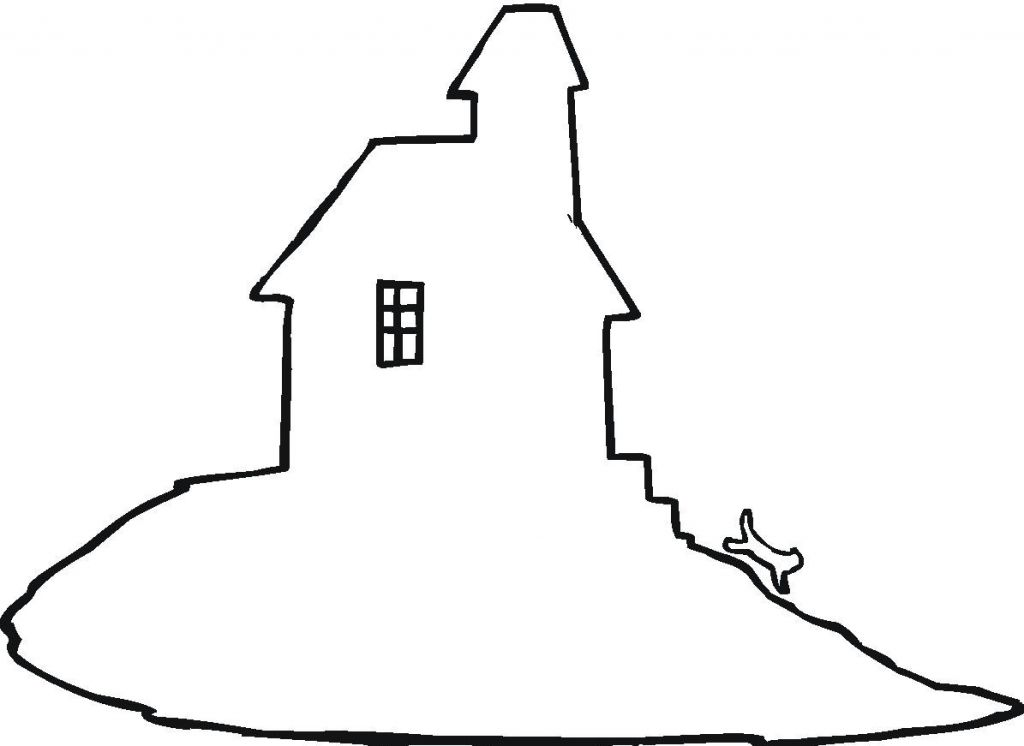 haunted house silhouettes coloring pages - photo#13
