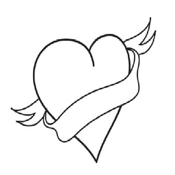 broken heart coloring pages cliparts co Broken Hearts Coloring Pages for Teens  Broken Heart Coloring Pictures