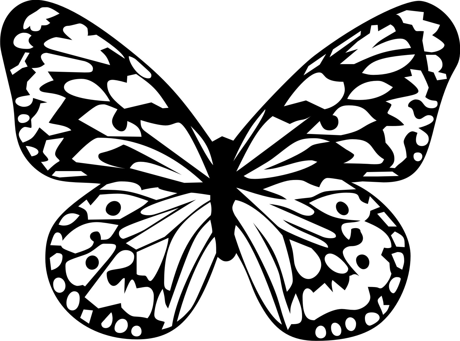 Line Art Printing And Design : Butterfly line art cliparts