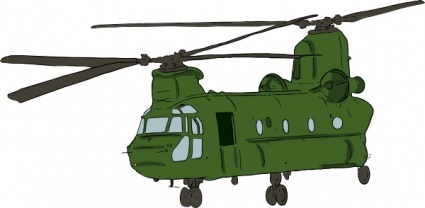 Chinook Helicopter clip art - Download free Other vectors