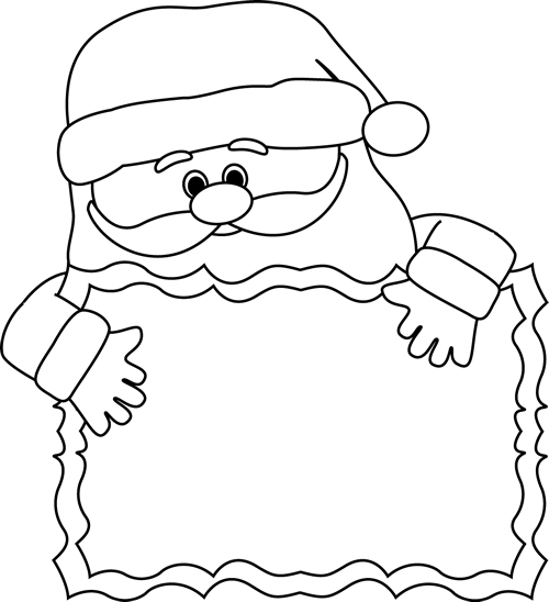 Clip Art Santa Clipart Black And White santa clipart black and white cliparts co sign clip art image