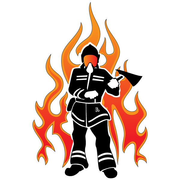 Firefighter Silhouette Clip Art | Clipart Panda - Free Clipart Images