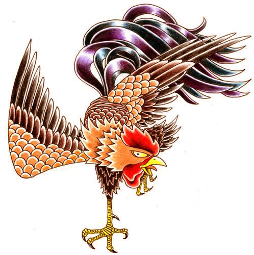 Fighting Rooster Tattoo DesignsFighting Rooster Design