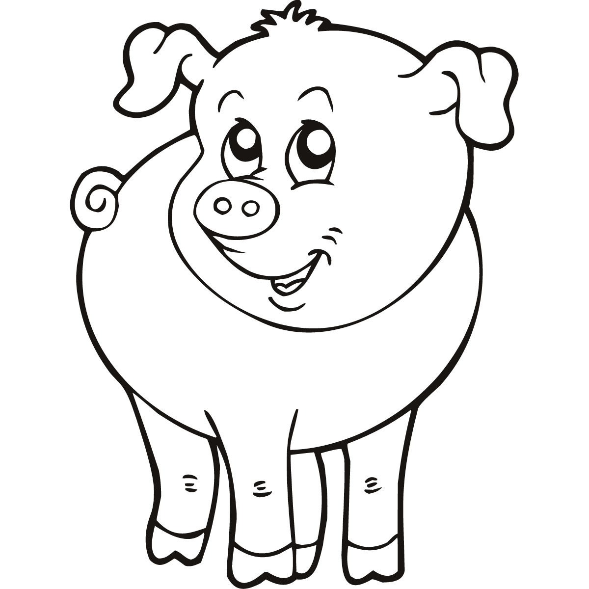 easy farm coloring page - photo #28