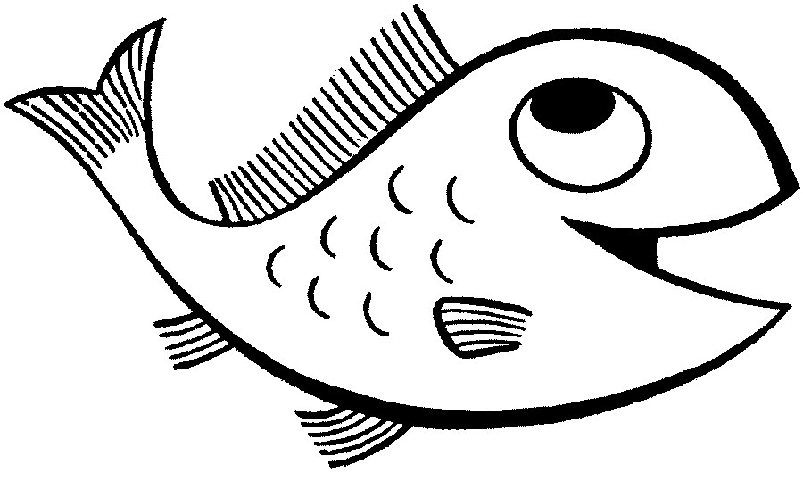 fish outlines – 900×539 kids coloring pages, printable coloring ...