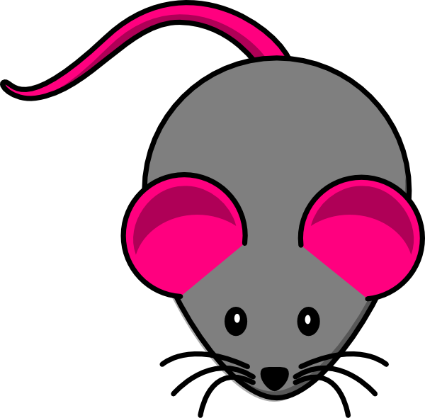 Pink Gray Mouse clip art - vector clip art online, royalty free ...