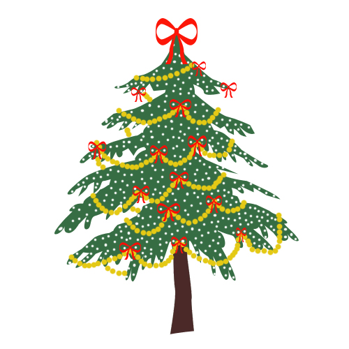 Pretty Christmas Tree Pictures - Clipartsco