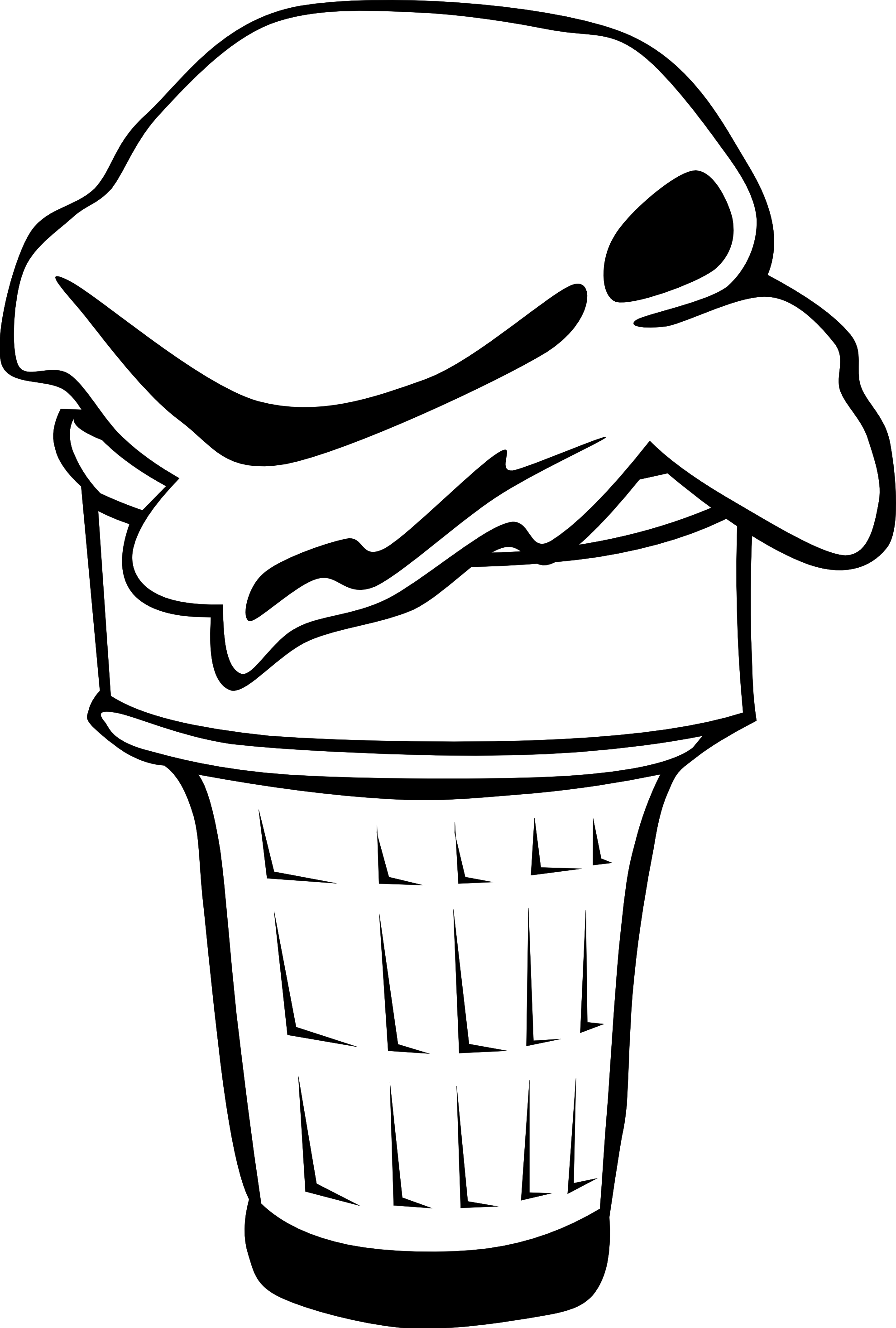 ice cream scoop black and white clipart - photo #30
