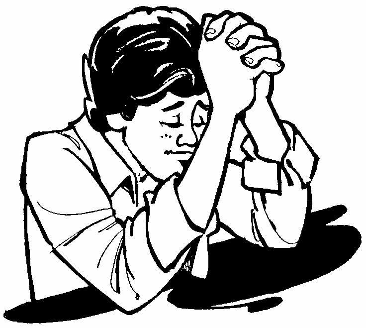Black Children Praying Clipart