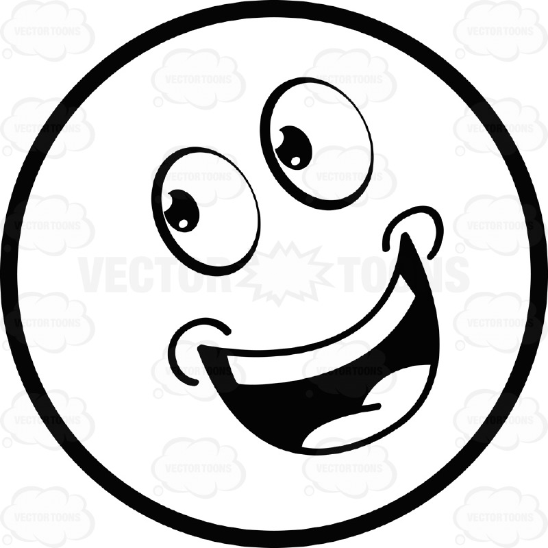 laugh clipart black and white - photo #20