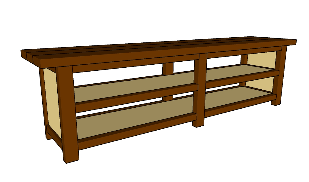 Sofa table plans howtospecialist how to build step by for Console table design