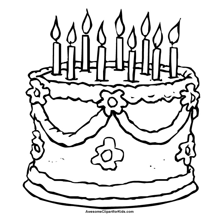 Pin Free Clipart For Kids Cake Image Great Para Colorear Cake on ...