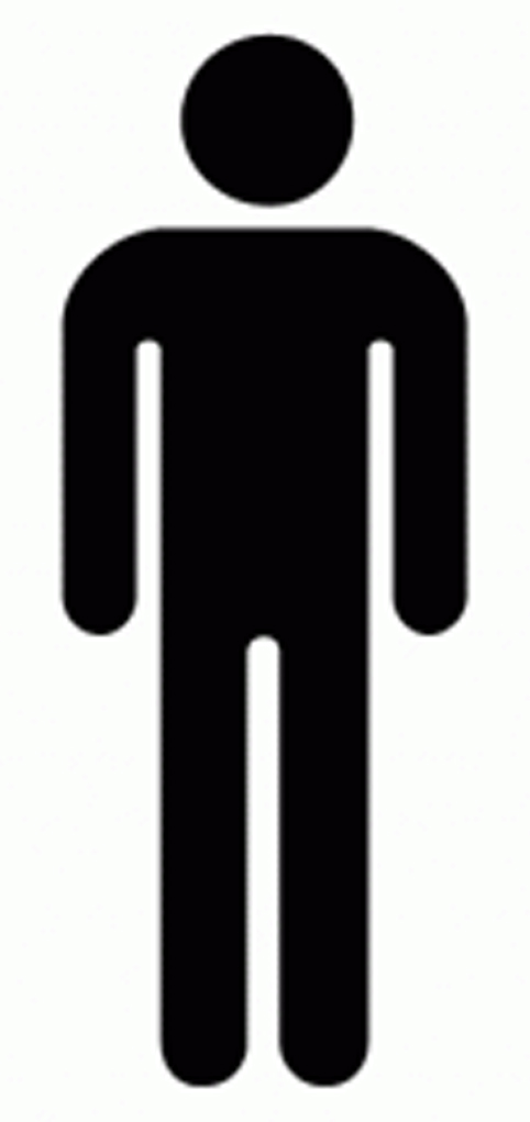 Men Bathroom Sign