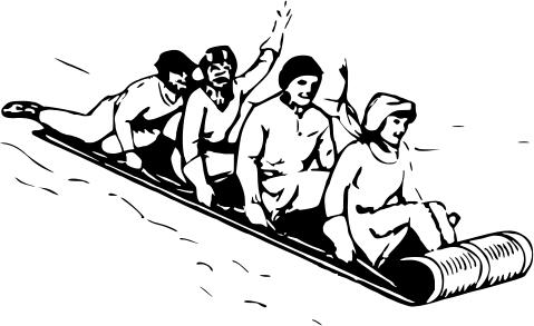 toboggan sledding clip art download clipartsco