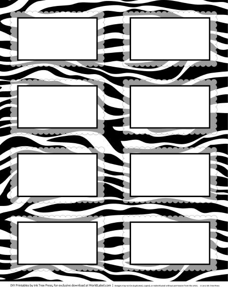Zebra Border Template Cliparts Co