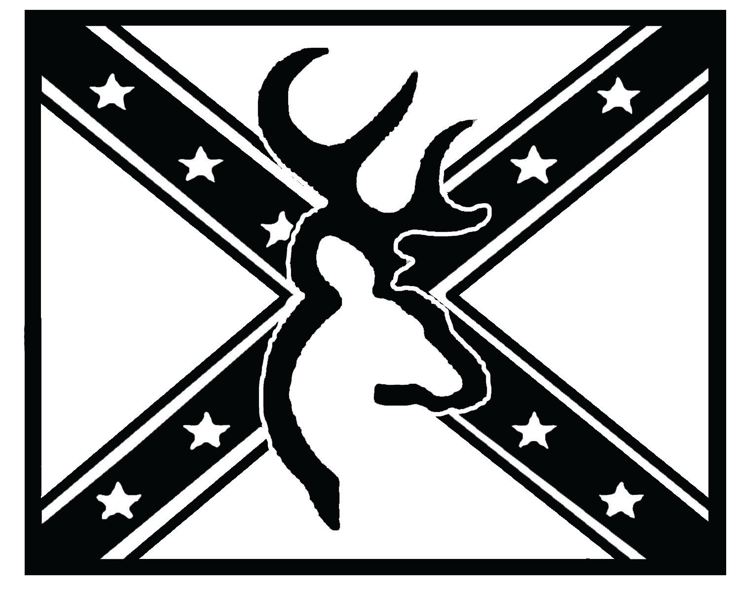 Rebel flag browning logo for Flag heart coloring page