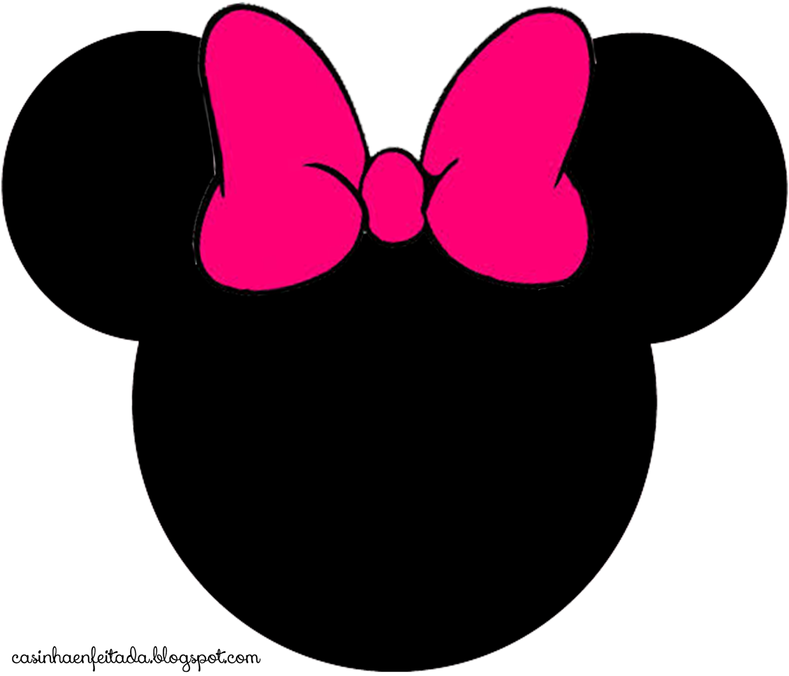 Minnie Mouse Face Vector - Cliparts.co
