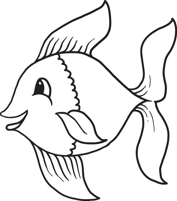 fish drawing for kids clipartsco