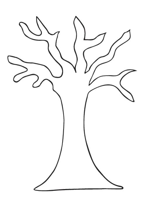 Leafless Tree Outline Printable Clipartsco