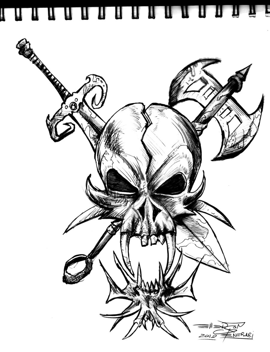 Awesome Skull Drawing Search Results Tatouage Bebe Ange Elfe Cliparts Co