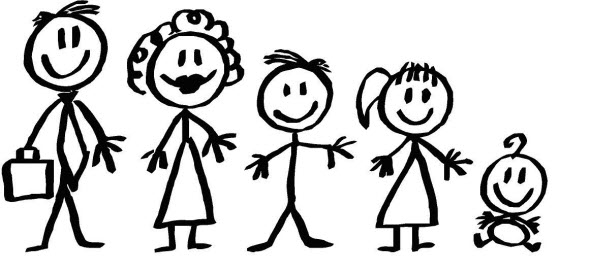 Pictures Of Stick People Family - Cliparts.co