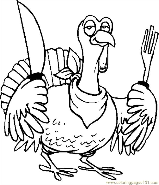 coloring pages cooked turkey - photo#34