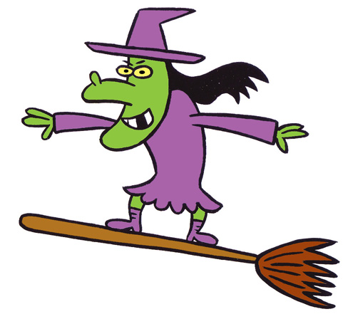 Halloween Cartoon Witches - Cliparts.co