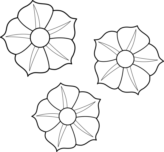 Flower Line Drawing Clip Art Free : Line art flowers cliparts