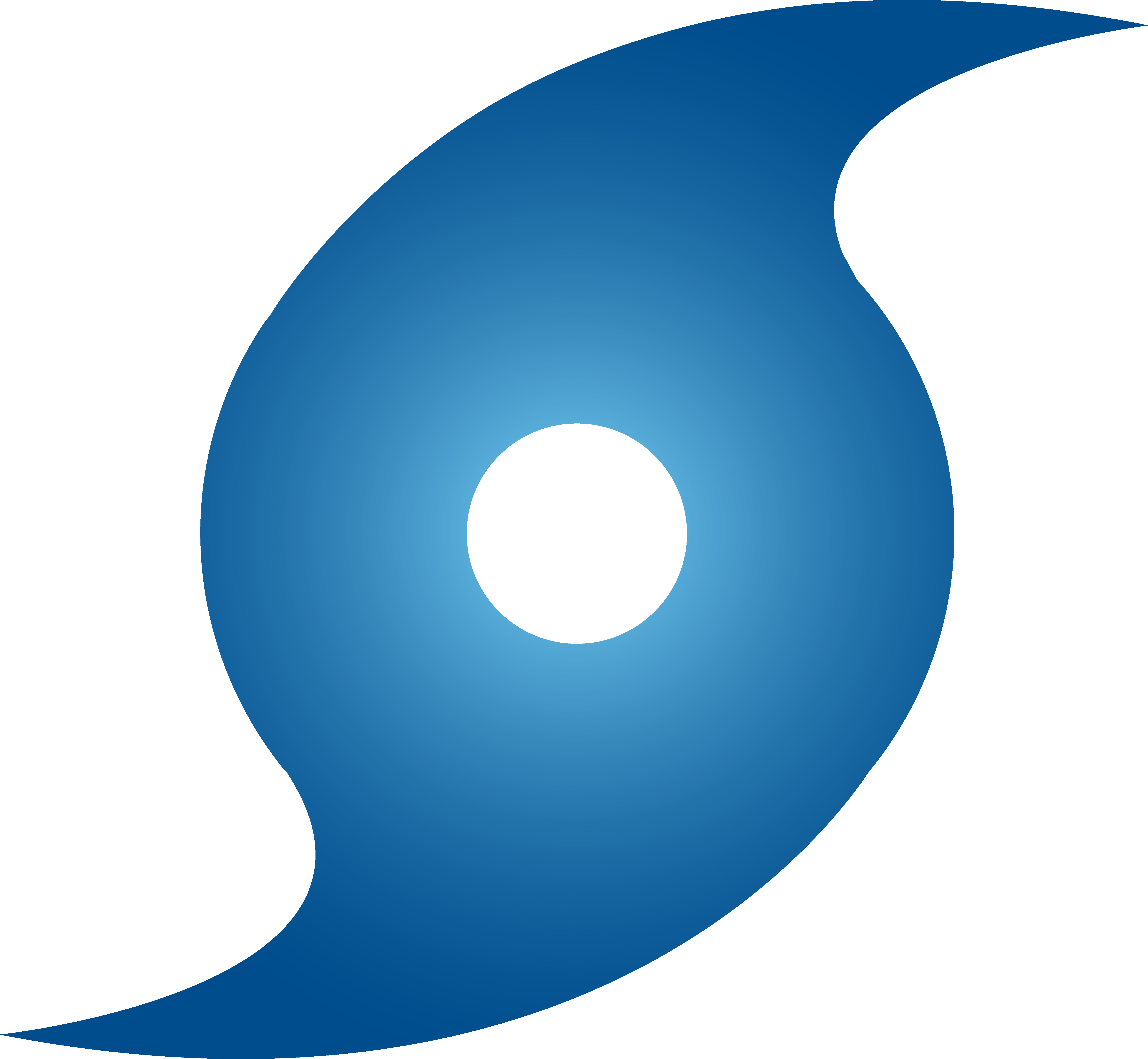 Hurricane Symbol Blue image - vector clip art online, royalty free ...