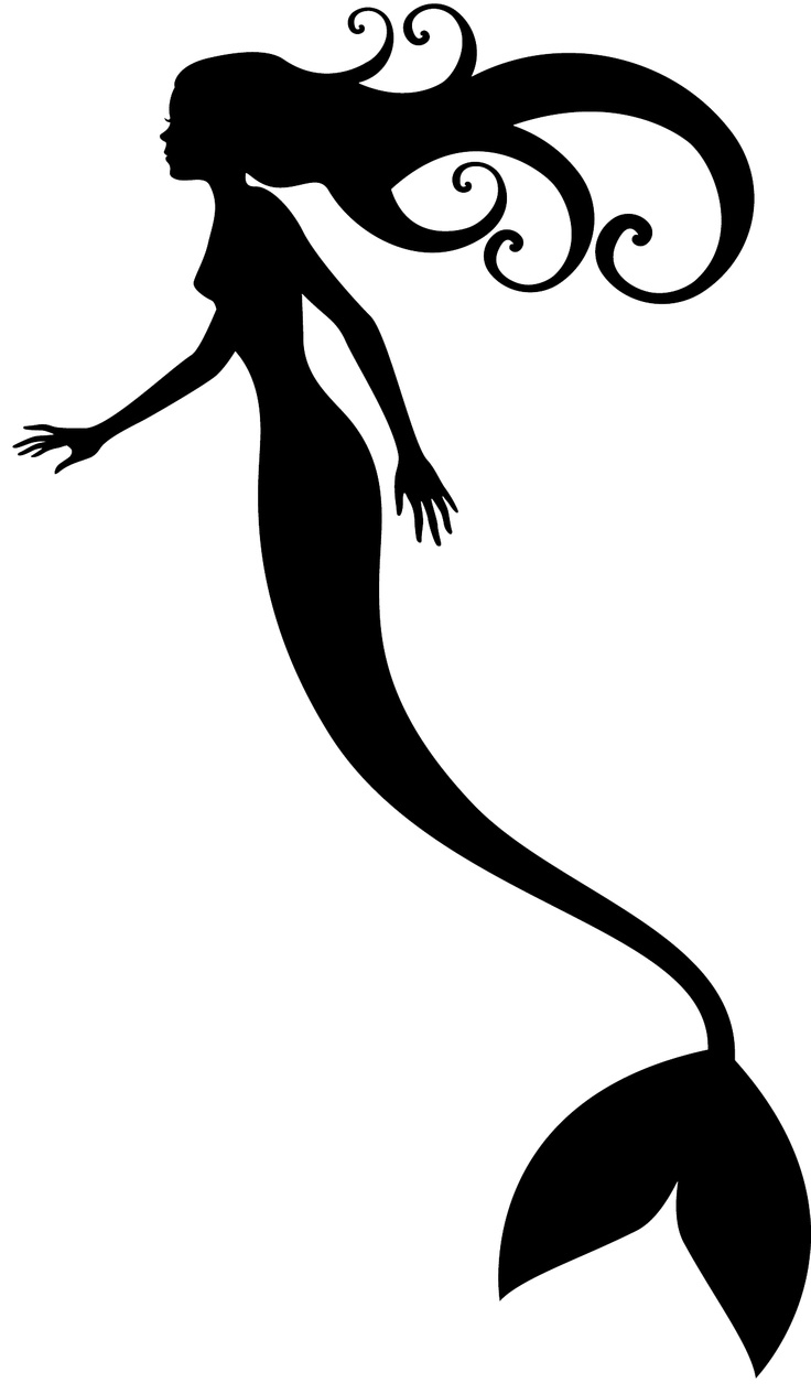 Little Mermaid Stencil - Cliparts.co - 68.4KB