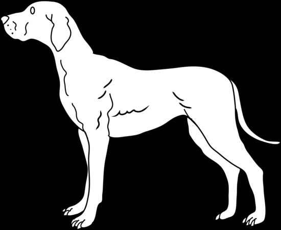 Line Drawing Of A Dog : Line drawing of a dog cliparts