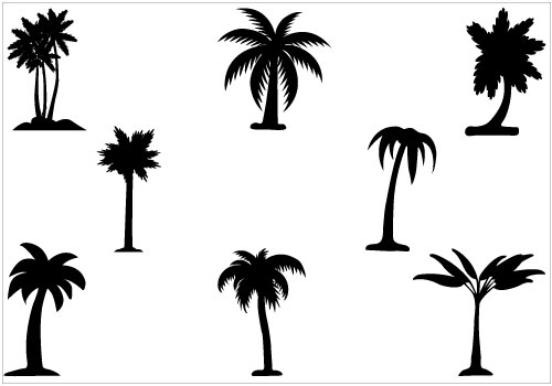 Simple Palm Tree Vector – images free download