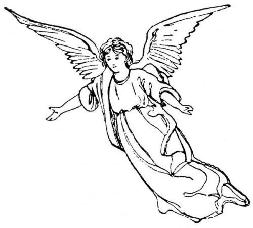 Line Drawing Angel : Angel line drawing cliparts