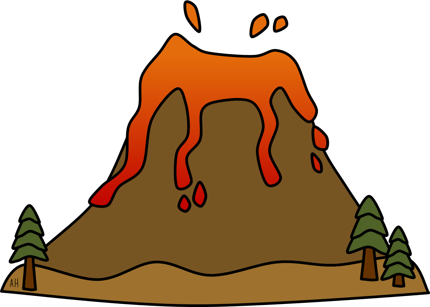 Volcano Clip Art Images & Pictures - Becuo