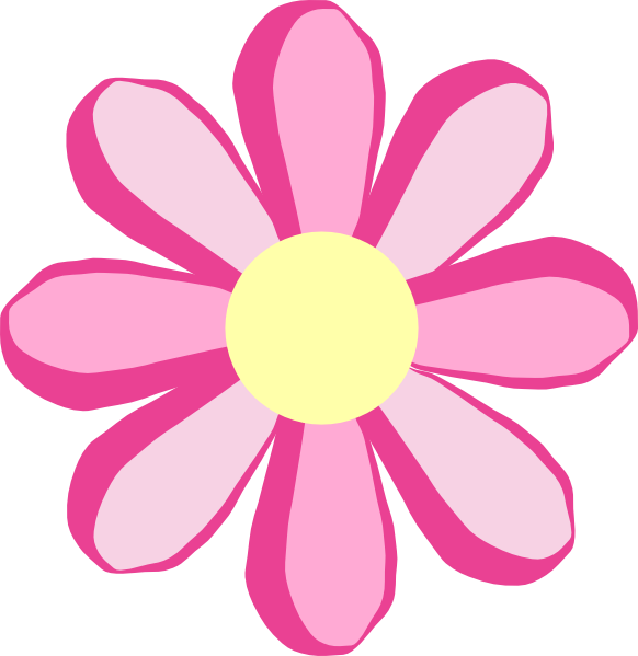 Cute pink flower clipart mightylinksfo