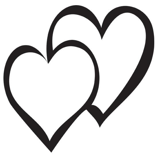 clip art double hearts free - photo #20