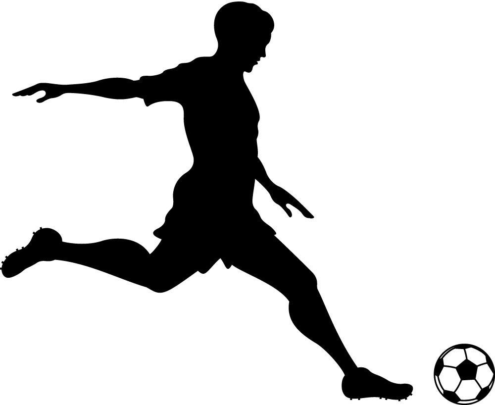 Football Player Kicking Ball - Cliparts.co