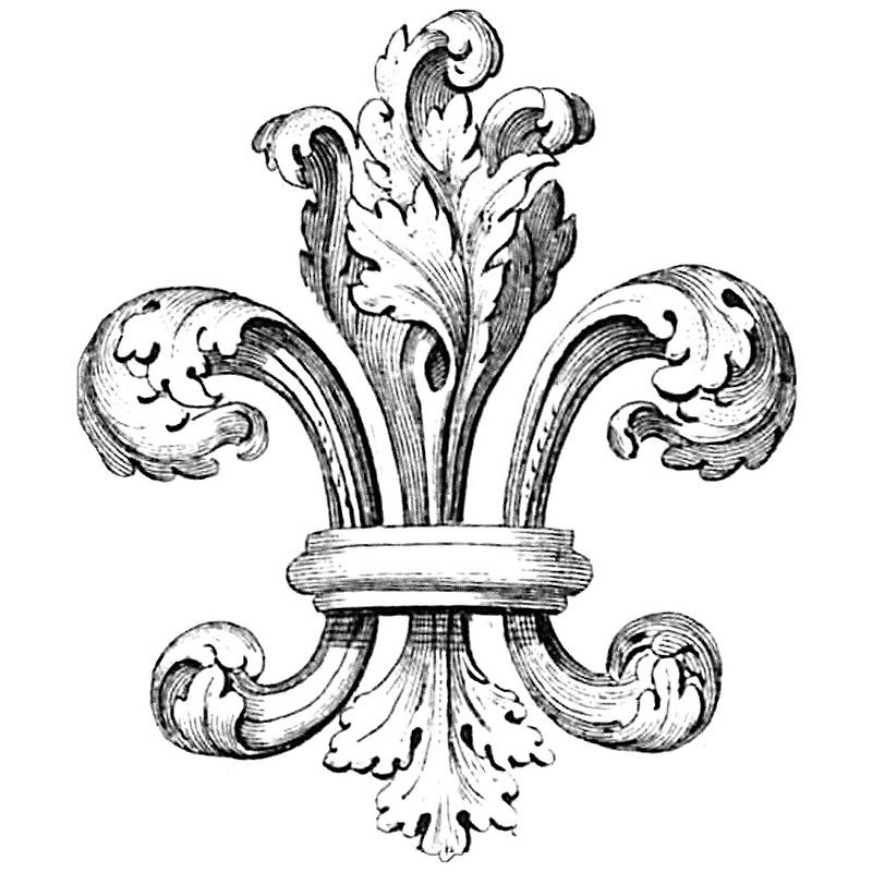 Small Fleur De Lis Embroidery Design